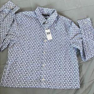 Michael Kors button down long sleeve shirt sz M